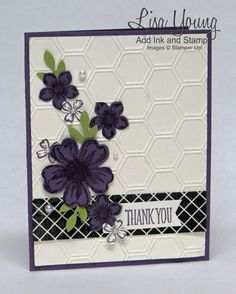 Perfect Plum flowers by genesis - Cards and Paper Crafts at Splitcoaststampers