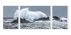 Coup de vent sur les côtes bretonne Photo imprimée sur toile