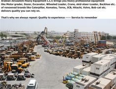 Visit us @: http://www.al-quds.com  #Heavyequipment #usedheavyequipment #caterpillar #Earthvoing #Constructionequipment