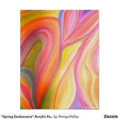 """Spring Exuberance"" Acrylic Painting Poster Print"