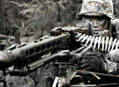 Soldier with Mg42.Das noise of the shot of the Mg42 is unique and every enemy soldier who heard it could think of now is it dangerous