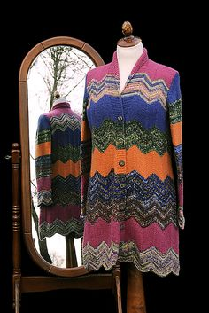 Colorfull Cardigan #knit #free_pattern