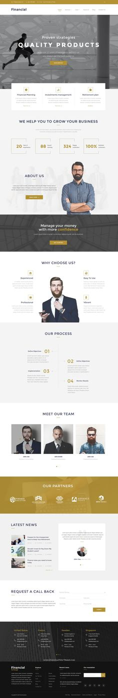 Financial – Clean Business PSD Templates your new website. #psdtemplate #business Download Now➝ http://themeforest.net/item/financial-clean-business-psd-templates/15825955?ref=Datasata