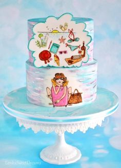 Sweet Summer Dream Cake ~ Sweet Summer Collaboration - Cake by LenkaSweetDreams