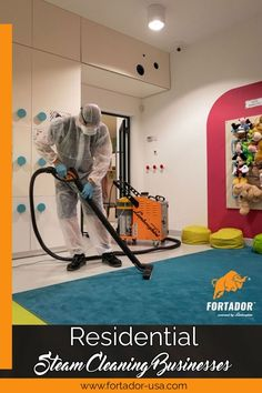 Steam cleaning works viatiny vapor molecules that penetrate the pores of surfaces to force out dirt, grease and other stain-causing substances without using any harsh chemicals. Residential Cleaning, Steam Cleaners, Cleaning Business, Cleaning Service, Home Appliances, Grease, House Appliances, Appliances, Greece