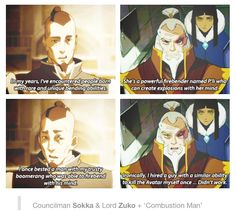 """Umm """"Sparky Sparky Boom Man"""" was clearly the superior name. Avatar The Last Airbender Funny, The Last Avatar, Avatar Funny, Avatar Airbender, Korra Avatar, Team Avatar, Fandoms, Atla Memes, Avatar Series"""