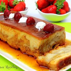 JULIA Y SUS RECETAS: Pudin de pan con aroma de limón, sin gluten Flan, Chocolate Caliente, French Toast, Gluten, Sweets, Chocolates, Breakfast, Desserts, Cake