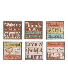 GANZ Six-Piece Grateful Blessings Magnet Set | zulily