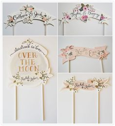Adorable custom-made paper cake toppers from Etsy