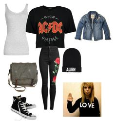 """Untitled #42"" by aubrey-corbett on Polyvore featuring beauty, Boohoo, Vince, Hollister Co., Converse and Nicopanda"