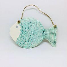 Handmade Ceramic Fish Wall Hanging Decoration Garden | Etsy