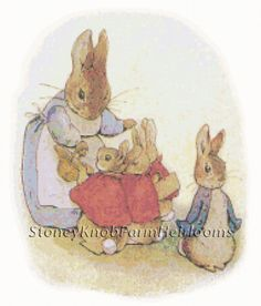 Tale of Peter Rabbit 2 ~ Beatrix Potter ~ Counted Cross Stitch Pattern #StoneyKnobFarmHeirlooms #CountedCrossStitch