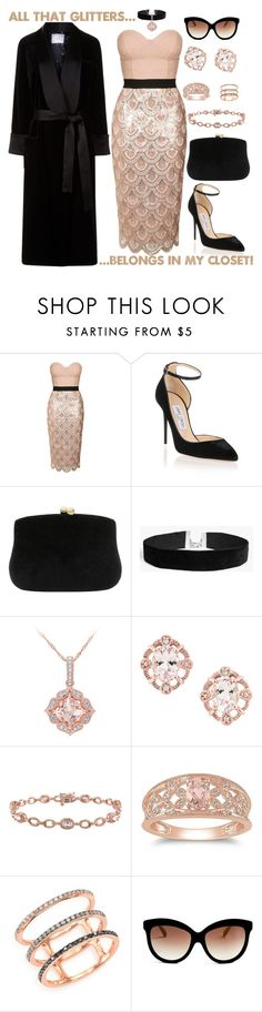 """""""All that Glitters..."""" by ms-ironickel ❤ liked on Polyvore featuring Topshop, Jimmy Choo, Serpui, Boohoo, Ice, EF Collection, Italia Independent and Racil"""