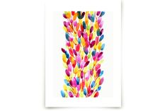 Summer colours by Alexandra Dzh at minted.com