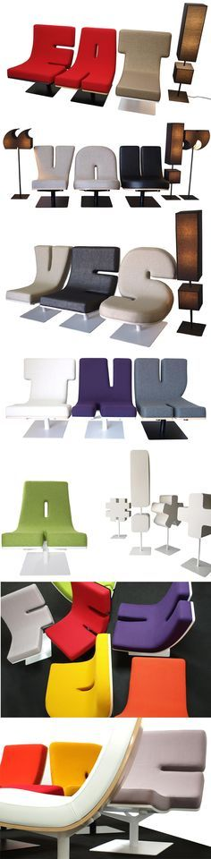 Typigraphic Furniture - FUN! Such a great way to personalize your home or office.