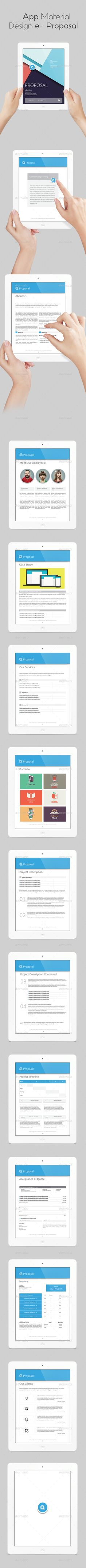 App Material Design eProposal Template #eproposal #ebook Download: http://graphicriver.net/item/app-material-design-e-proposal/10740979?ref=ksioks