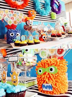 Fuzzy & CUTE Little Monster Party