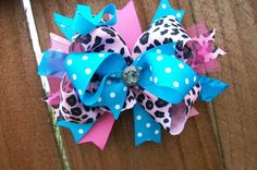 Hey, I found this really awesome Etsy listing at https://www.etsy.com/listing/127681691/glam-ott-over-the-top-hair-bow-bubblegum