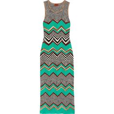 MISSONI Crochet-knit maxi dress (€475) ❤ liked on Polyvore featuring dresses, multi color maxi dress, slip on dress, colorful maxi dress, multicolor maxi dress and green dress