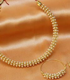 Buy Lovely pearl  set necklace-set online