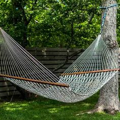 Kick back and relax in this easy-to-make hammock. Throw this simple project together in no time with a ball of rope and mainly using only one knot method.