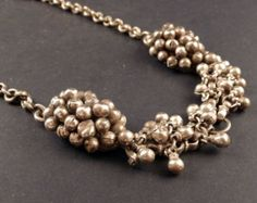 Rajasthan silver old necklace indian jewelry by ethnicadornmentDeepika. Dks Pinboard trails~*~