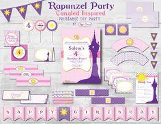Diy archivo imprimible personalizado Rapunzel por xxPepperAvenuexx