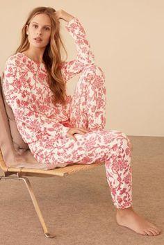 Pink Floral Print Pyjamas
