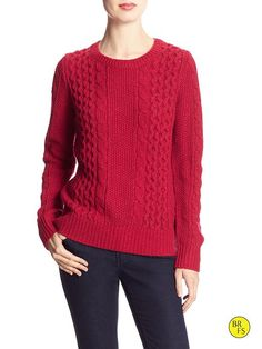 SMALL-Factory Cable-Knit Sweater