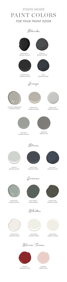 Front door paint guide - Studio McGee Blog - http://home-painting.info/front-door-paint-guide-studio-mcgee-blog/