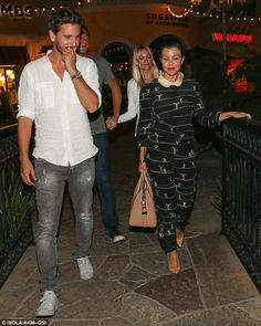 Celeb Diary: Kourtney Kardashian & Scott Disick in Calabasas, California