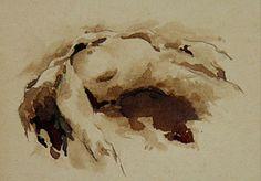 marie palazzo -Encre et Brou de Noix sur Carton 15 x 10 cm
