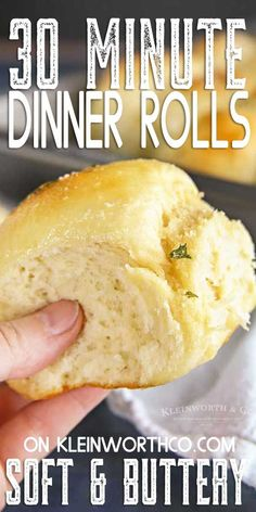 Garlic Parmesan Dinner Rolls, the perfect bread recipe to serve with any meal. Great for holidays, so simple to make. recipes chicken recipes crockpot recipes easy recipes for dinner recipes healthy food recipes Cooker Recipes, Crockpot Recipes, Dinner Rolls Recipe, Dinner Rolls Easy, Homemade Dinner Rolls, Homemade Breads, No Yeast Dinner Rolls, Homemade French Bread, Dinner Bread