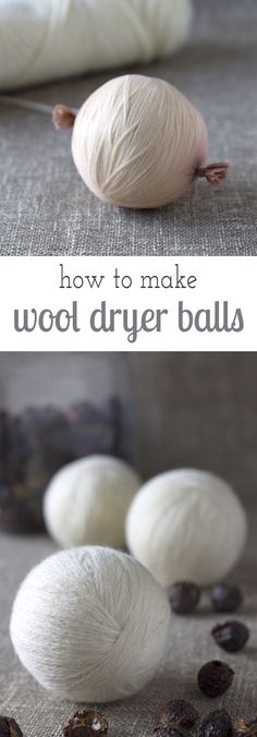 How to make wool dryer balls to soften clothes and speed drying time, naturally.