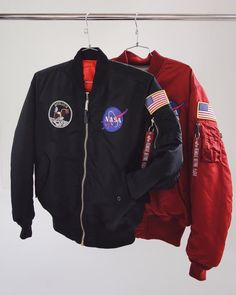 90s Fashion, Fashion Outfits, Style Fashion, Nasa Clothes, Cold Weather Outfits, Jacket Style, Types Of Fashion Styles, Bomber Jackets, Nasa Bomber Jacket