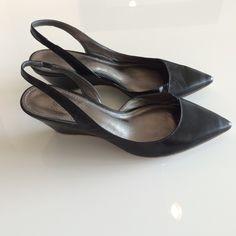 SALE ❗️ Belle Sigerson Morrison Slingback Wedges Lightly worn black leather Belle Sigerson Morrison slingback wedges in excellent condition. Belle Sigerson Morrison Shoes Wedges