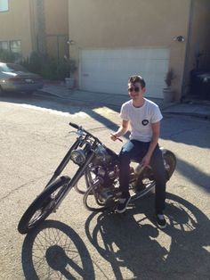 Alex and his motorcycle