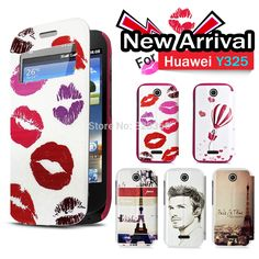 For Huawei Y325 Stand Flip PU Wallet  Leather Case Cover with multiple design