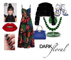 """Dark Floral Contest"" by lolouise ❤ liked on Polyvore featuring Bling Jewelry, Givenchy, Valentino, Schutz, Fendi, Aurélie Bidermann and Mark Davis"
