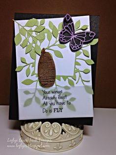 Lezlye Lauterbach, Designs, Poppystamps, Twinery Hop Memory Box Dies, Rubber Stamping, Card Making Inspiration, Beautiful Butterflies, Die Cutting, Stampin Up Cards, Paper Crafting, Handmade Cards, Rocks