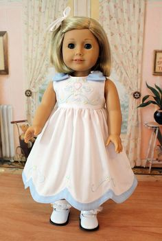 Hand Embroidered Dress for AG Dolls by BabiesArtUs on Etsy  $75.00