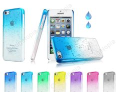 Quirky iPhone 5c case, rain drop pattern, Modern Funky hard iphone cover - Cheap