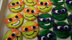 Ninja turtled koekjes