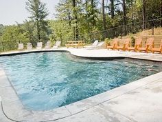 Our swimming pool overlooks the Toccoa River