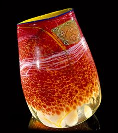 Dale Chihuly, 1987 | Light chrome soft cylinder | Soft Cylinders Glass Series