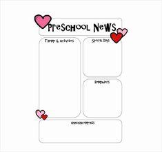 45 Best Preschool Newsletter Templates images in 2014