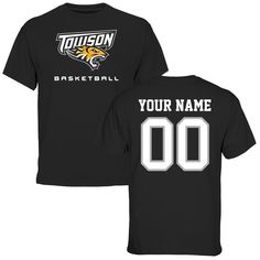 Towson Tigers Personalized Basketball T-Shirt - Black