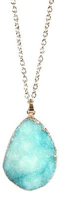 Eye Candy Los Angeles Blue Agate Necklace #pendant