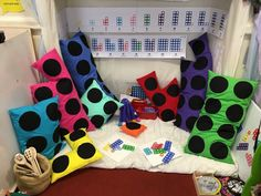 Numicon cushions I saw posted on Facebook but couldn't pin.