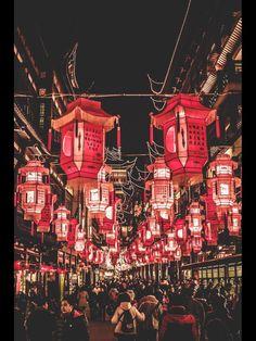 Chinese New Year decorations in Yu Garden, Shanghai by Hassan Raza. wnderlst.tumbler.com
